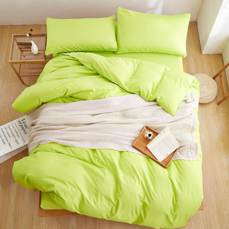 Nueva ropa de cama, juegos de cama ahumados de Color púrpura Simple, azul Lago, sábana a rayas, edredón, funda de edredón, funda de almohada, suave Rey reina, gemelo completo