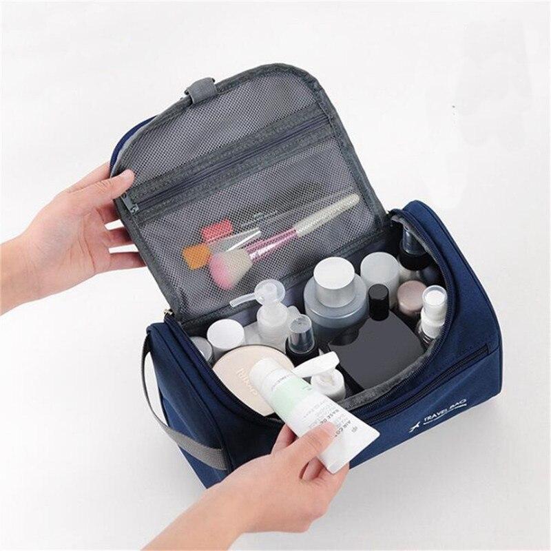 Sac de toilette 5 couleurs décontracté fonctions, Business étui de maquillage, maquillage de voyage, pochette de rangement, Kit de toilette organisateur à glissière