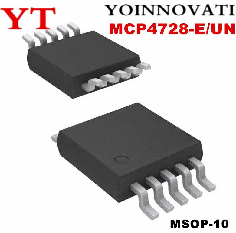 10 unids/lote MCP4728-E/UN MCP4728 4728 MSOP10 DAC 12BIT W/I2C mejor calidad ic