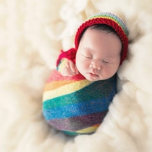 Accessoires de photographie pour bébés, couvertures, tricot extensible, vêtements pour nouveau-né, nouvelle mode offre spéciale 2019