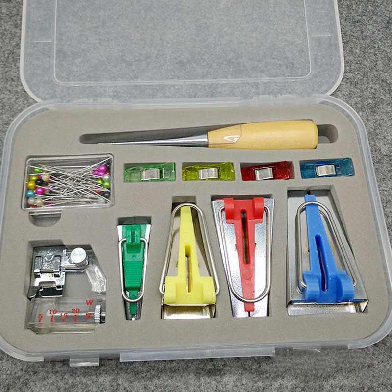 4 tamaños 6mm/12mm/18mm/25mm herramienta para creación de cintas de moda con pie prensatelas de unión para Patchwork QP2