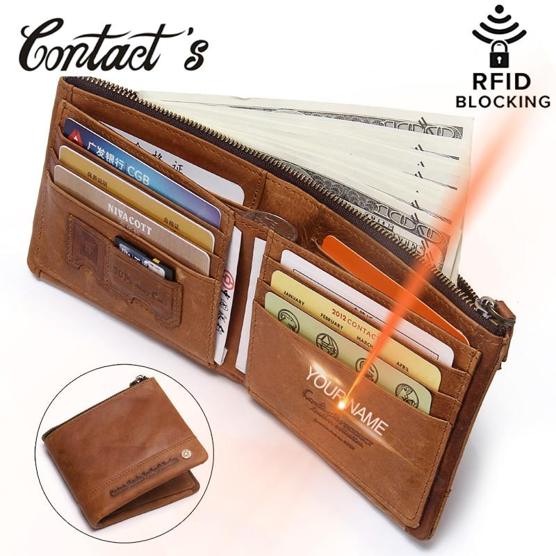 2020 neue RFID Blocking Brieftasche Für Männer Aus Echtem Leder Brieftaschen Und Geldbeutel Kleine Kurzen Münze Tasche Mit Karte Halter RFID schutz