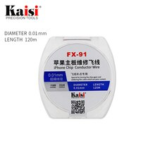 Kasi 0.01mm 0.02mm * 120 m fil de cuivre émaillé ligne de cuivre émaillé polyuréthane soudure à souder pour fil conducteur de puce iPhone
