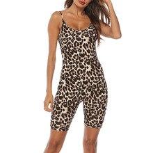 Jaycosin Sexy Bodysuit Women Sleeveless Camis Leopard Printed Jumpsuit Leotard Top Fashion comfortable Summer Romper