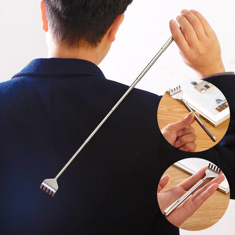 Rascador de espalda masajeador telescópico antipicazón rascador de espalda masajeador de cuero cabelludo Clip extensible telescópico rascador de picazón