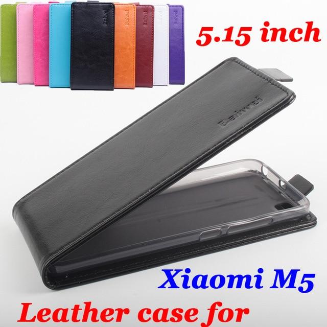Luxury leather case For Xiaomi 5 M5 Mi5 Flip cover housing For Xiomi Xiaomi5 M 5 / Mi 5 Mobile Phone cases covers Bags Fundas