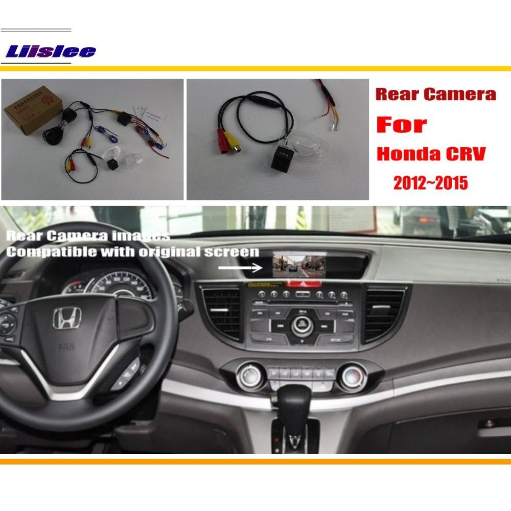 Vista trasera de coche cámara de marcha atrás para Honda CRV CR-V 2012 ~ 2015 Cámara de aparcamiento para coche Compatible con pantalla Original