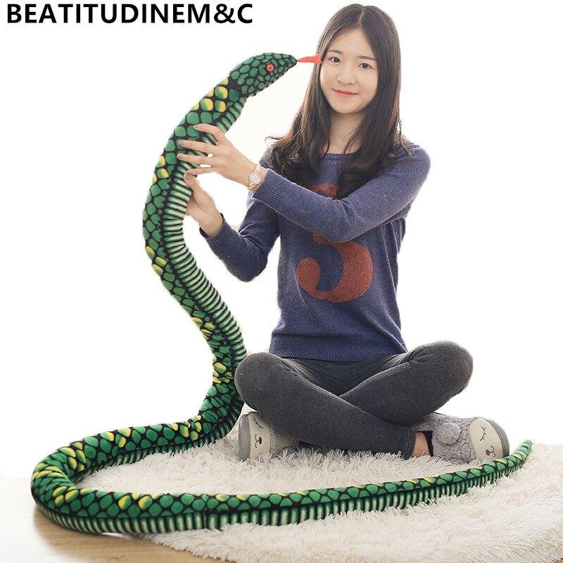 1 шт. 280 см имитация змеи плюшевые игрушки гигантские змеи животные питон мягкие куклы подарки на день рождения Детские игрушки домашний декор