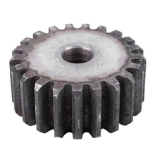 10mm x 46mm x 20mm Module 2 21 teeth metal straight gear spur gear gray