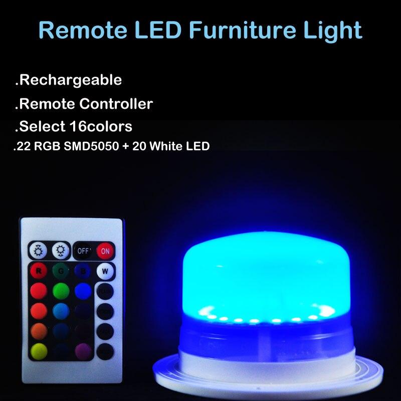 نمط جديد!!! إضاءة LED RGBW فائقة السطوع قابلة لإعادة الشحن مع جهاز تحكم عن بعد ، مثالية لحفلات الزفاف والمناسبات والطاولات