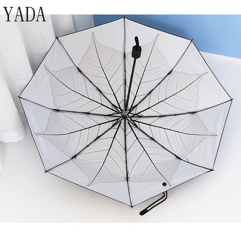 Folha de Bordo do Vintage Guarda-chuva de Alta Qualidade para Mulheres Marca à Prova de Vento Yada Dobrar Guarda-chuva Adulto Pátio Guarda Ys287 uv