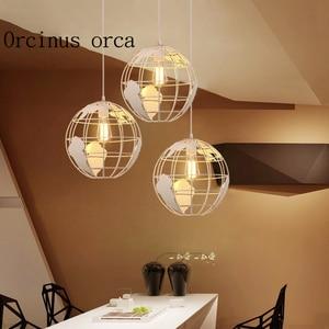 Modern minimalist earth chandelier restaurant bar aisle bedroom American Iron Chandelier free shipping