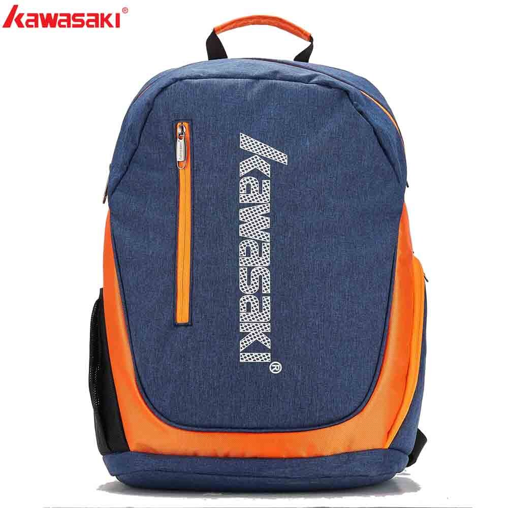 KAWASAKI Badminton Backpack Tennis Racket Bag Can Hold 1-2 Rackets With Shoes Separate Room Sports Travel Bags KBB-8202