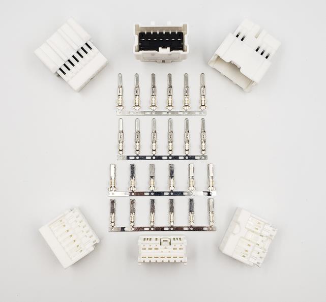 1 conjunto conector do carro porta painel a-pilar plug roda pneu de reposição cubo subwoofer amplificador 12pin buraco conector