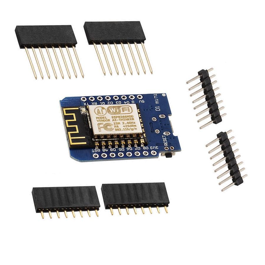 ESP8266 ESP-12 ESP12 WeMos D1 Mini Module WiFi Development Board Micro USB 3.3V Based On ESP-8266EX 11 Digital Pin NodeMcu 4M