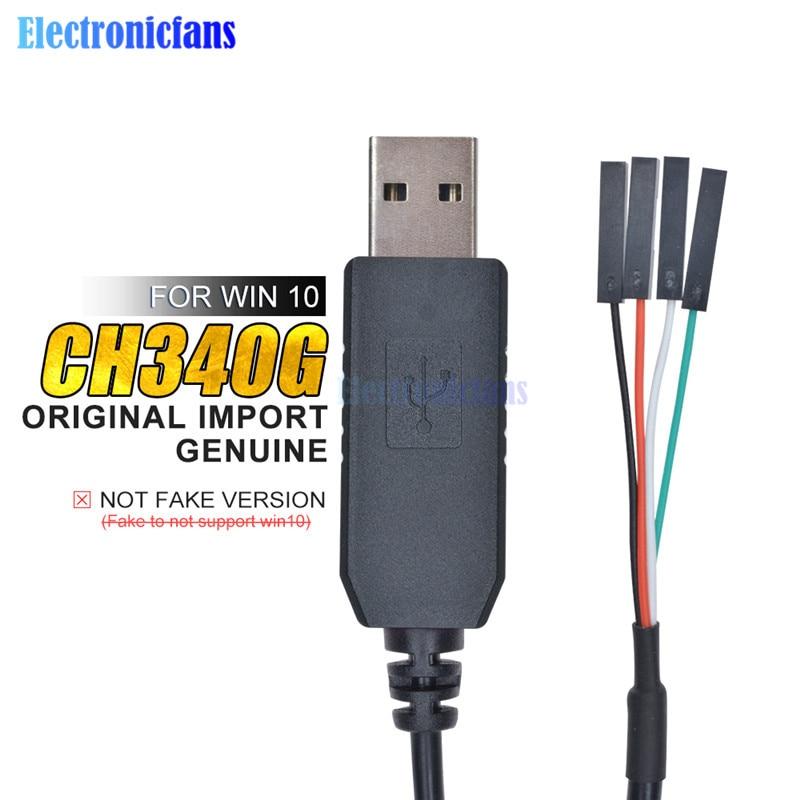 Original 1M CH340G CH340 Serie USB a TTL Cable de descarga Cable...