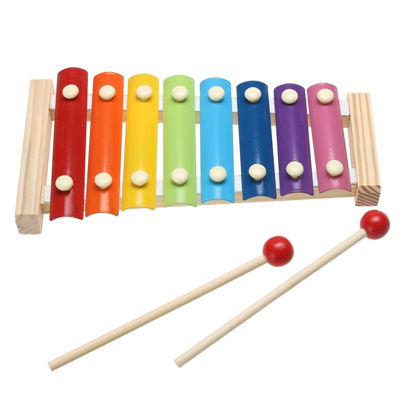 Instrumento de música brinquedo quadro de madeira estilo xilofone crianças musical engraçado brinquedos do bebê brinquedos educativos presentes