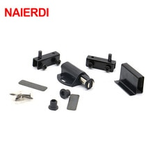 Bouchon de porte darmoire noir simple   Verre, pression magnétique pour ouvrir, butée tactile, aimant de placard de cuisine