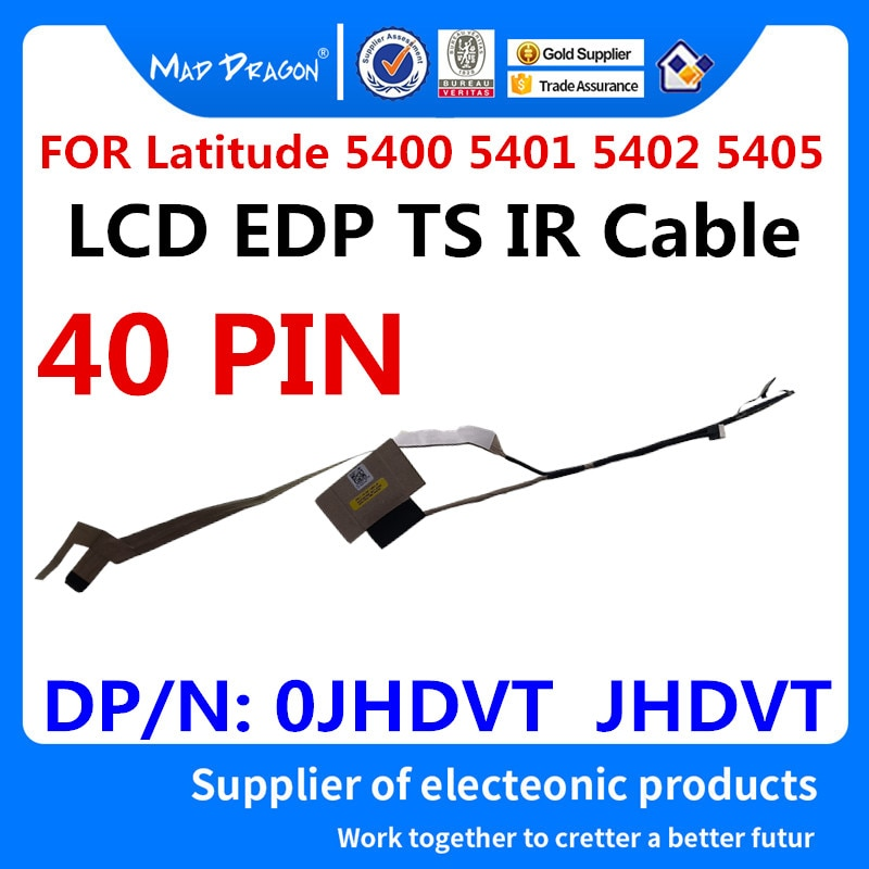 MAD DRAGON Brand laptop new LVDS Lcd Cable for Dell Latitude 5400 5401 5402 5405 EDC41 LCD EDP TS IR