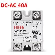 DC-AC 220 V Relais Industriële Solid State Relais SSR 40 DA 3-32 V DC Input en 24-380VAC Uitgang 40A AC Output Belasting