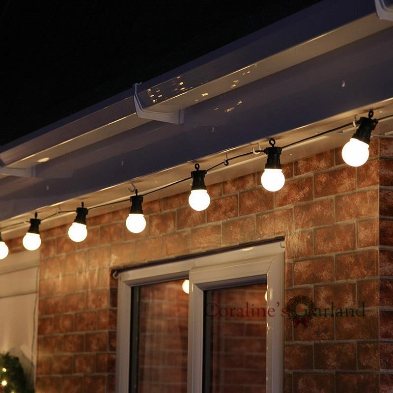 Tira de luces conectables para exterior, 23M, 25LED, IP65, guirnalda navideña de San Valentín, decoración de cafetería