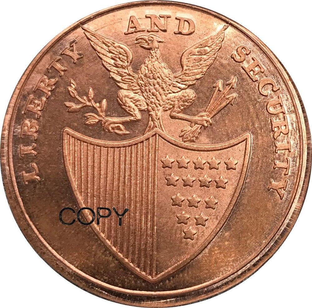 Monedas de copia de cobre rojo 30 DE ESTADOS UNIDOS 1795