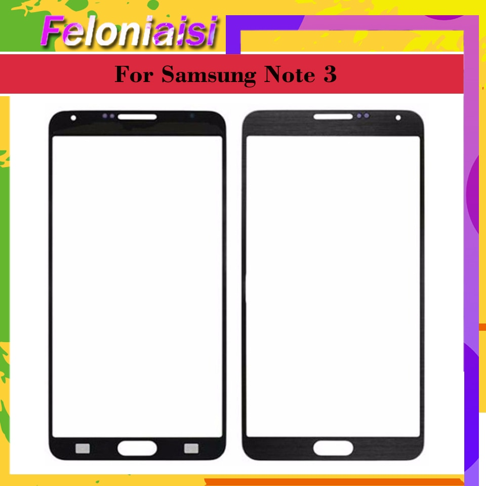 Para Samsung Galaxy Note3 nota 3 N900 N9005 N900F nota 3 Mini Lite Neo N750 N7505 pantalla táctil Panel frontal de lentes de vidrio exterior