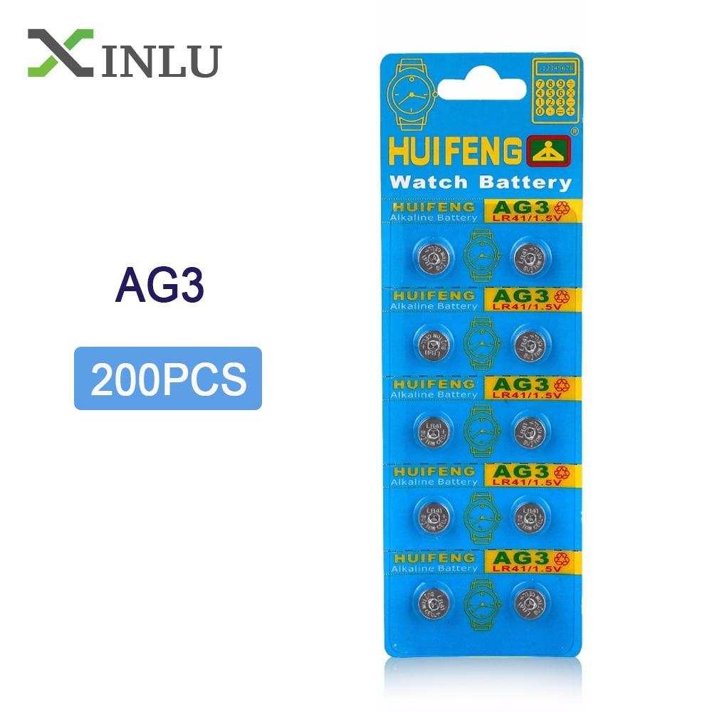 Großhandel 1 los = 20 packs = 200 stücke AG3 SR41SW LR736 GP192 SR41 1,5 v Alkaline Knopf zelle münze batterie für uhr, COSMOSNEWLAND
