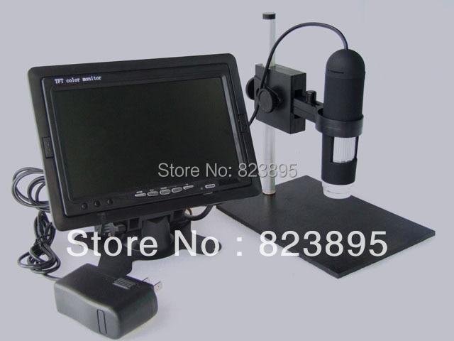 HD 800X AV Digital Microscope With Monitor  CMOS Borescope 8-LED Applicable AV Port Monitors LCD TV