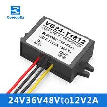 Reductor de voltaje de 36V 48V a 12V 2A convertidor reductor de voltaje CC certificado CE RoHS reductor de voltaje impermeable para carrito de Golf