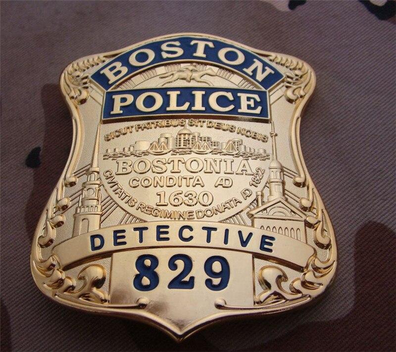 Insignias de Cosplay de los Estados Unidos Boston Detective cobre No.829 camisa solapa broche insignia Cosplay colección regalos