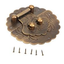 DRELD loquet de verrouillage pour meubles   Matériel de meubles chinois Antique, loquet en laiton, boîte de bijoux en bois, boucle de verrouillage loquet pour meubles