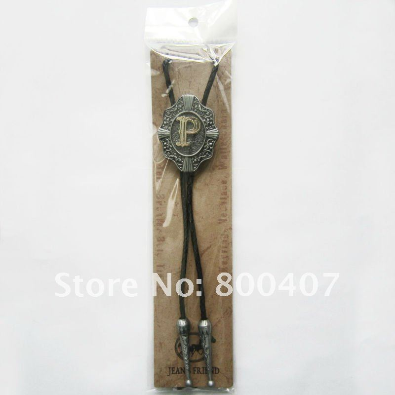 Brand New Retail Western Original Letter P New Bolo Tie Factory Direct Free Shipping BOLOTIE-WT078P