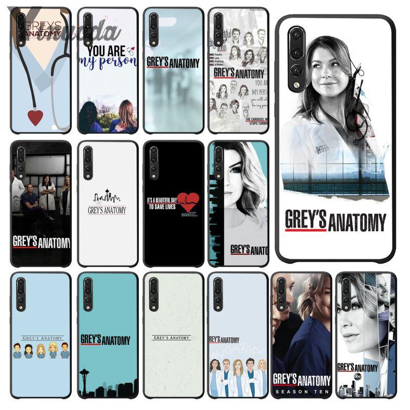 Yinuoda TV americana grises anatomía enfermera funda del teléfono para Huawei Mate10 Lite P20 Pro P9 P10 más Mate9 10 Honor 10 10