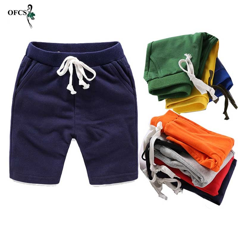 Children Summer Shorts Cotton Solid Elastic Waist Shorts For Boys Girls Fashion Sports Pants Toddler