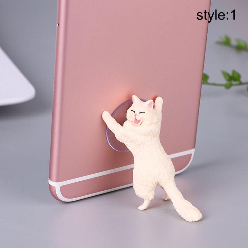 Etmakit 1 pçs bonito gato telefone titular universal celular tablet suporte ventosa montagens do telefone móvel nk-compras
