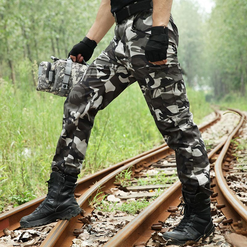 Pantalones tácticos militares, pantalones de combate de camuflaje del ejército, pantalones Cargo de camuflaje para hombres, pantalones tácticos, pantalones de trabajo Militar para hombres