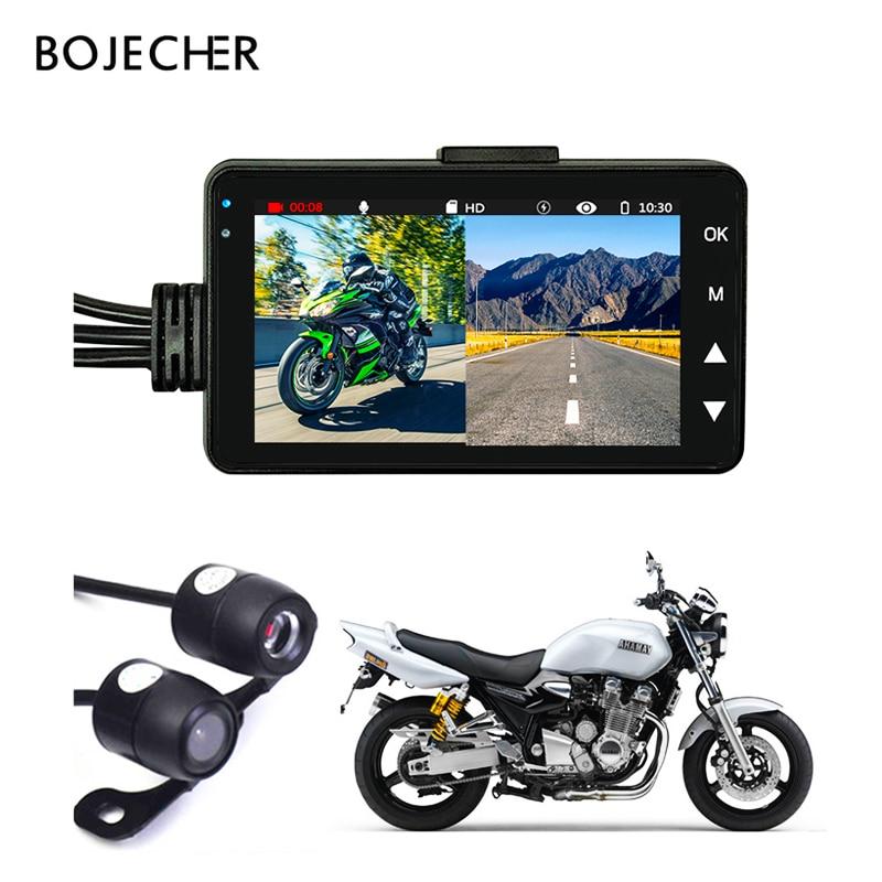 دراجة نارية كاميرا DVR المحرك KY-MT18 داش كاميرا خاص ثنائي المسار الجبهة الخلفية مسجل للرؤية الليلية G-الاستشعار دراجة نارية أسود مربع