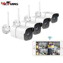 Wetrans système de caméra de sécurité sans fil   Caméra IP 1080P, carte Wifi SD pour lextérieur, système Audio-vidéosurveillance 4CH, Kit de vidéosurveillance
