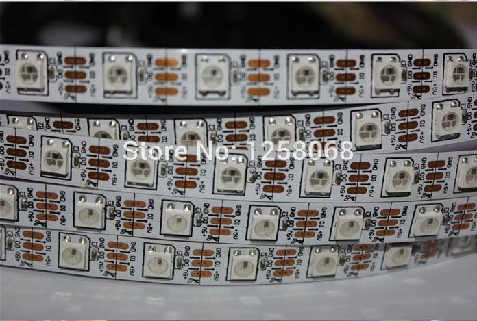 50 m/lote DC5V Ws2811 Ic direccionable Ws2812b 60 píxeles tira de luz, Color de sueño mágico 5050 Rgb Led no impermeable