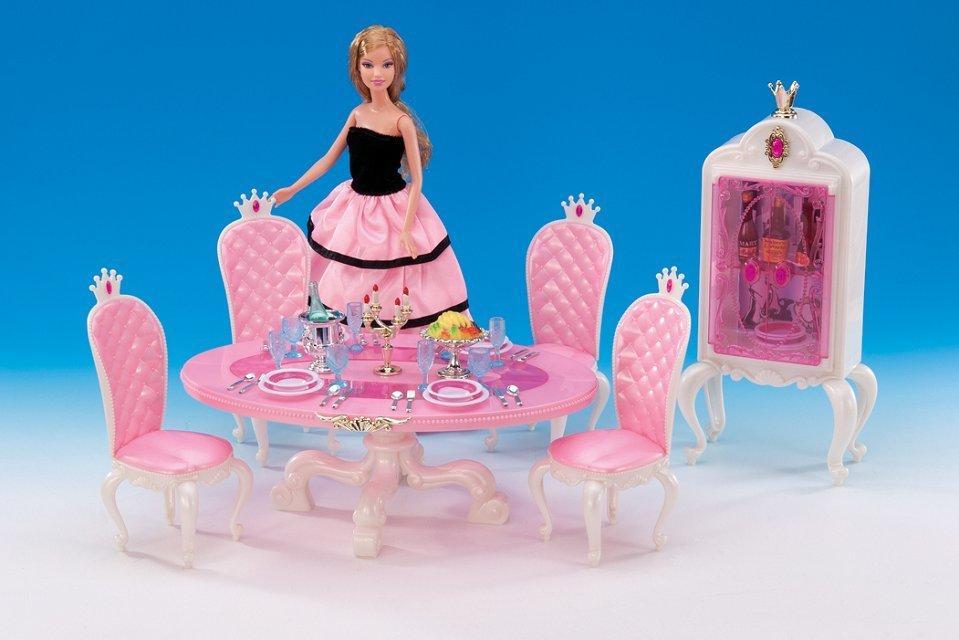 original for princess barbie restaurant dining table furniture set 1/6 bjd doll accessorie kitchen cabinet toy gift