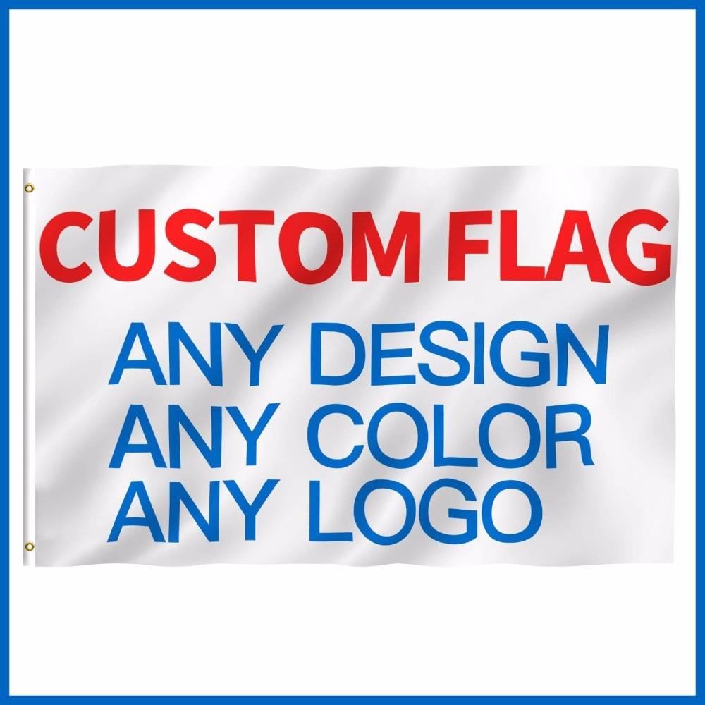 De 3x5ft impreso bandera cualquier tamaño 2x3ft 4x6ft 5x8ft empresa de publicidad logotipo deportes de interior al aire libre Club Banner y banderas