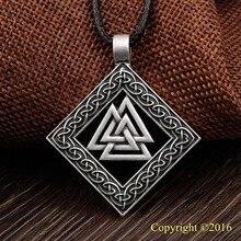 LANGHONG aîné Futhark Rune pendentif collier INGWAZ Rune Yggdrasil Viking amulette pendentif Runic nordique Talisman collier pendentif