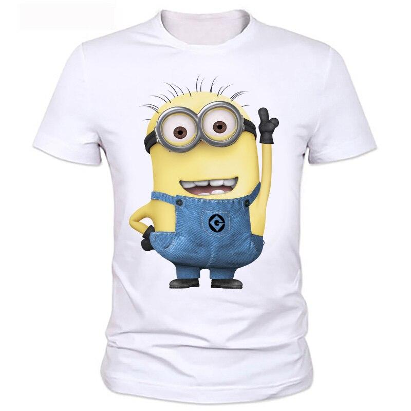 Minions men T-Shirts men's Clothing Tees anime figure Cartoon Tops men T shirts Hipster Cool Men T-shirt series 2-8#