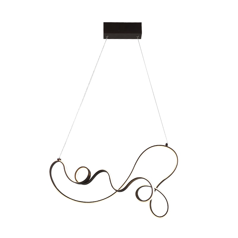 Coffee Finish Modern led Pendant Lights for Kitchen Dining Room Living Room Suspension luminaire Hanging Pendant Lamp Fixtures  - buy with discount