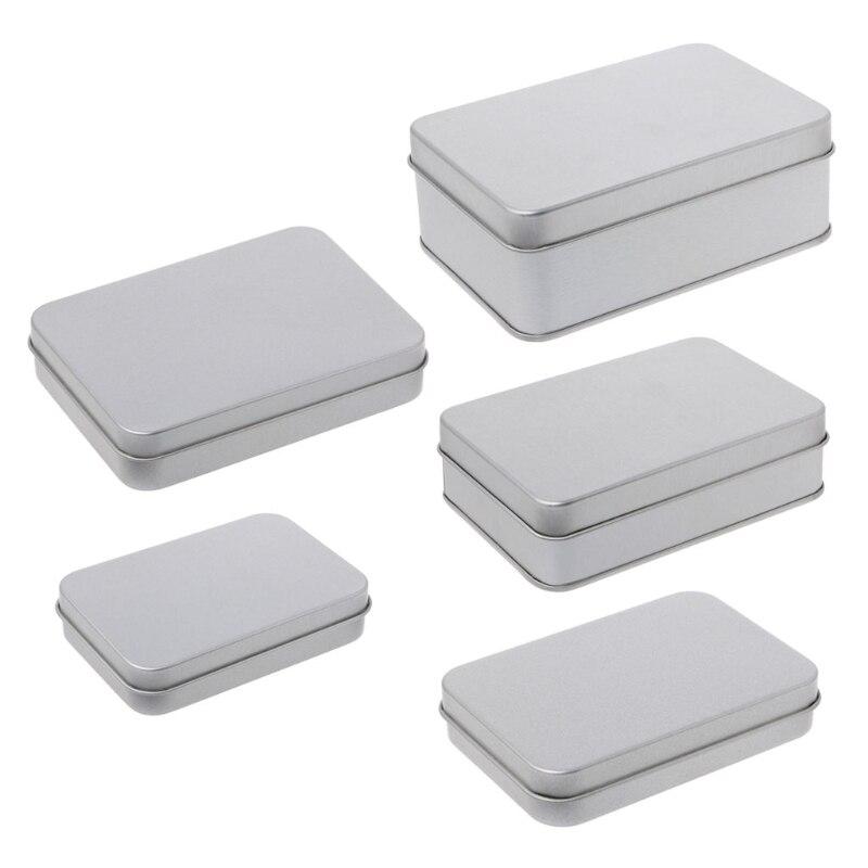 Caja de almacenamiento pequeña de hojalata de Metal, organizador para monedas conmemorativas, llave de caramelo