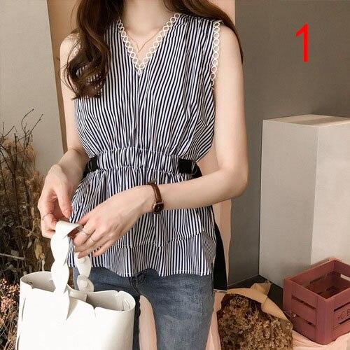 High Quality J41578 One Size 2019 Summer Women Chiffon Shirt