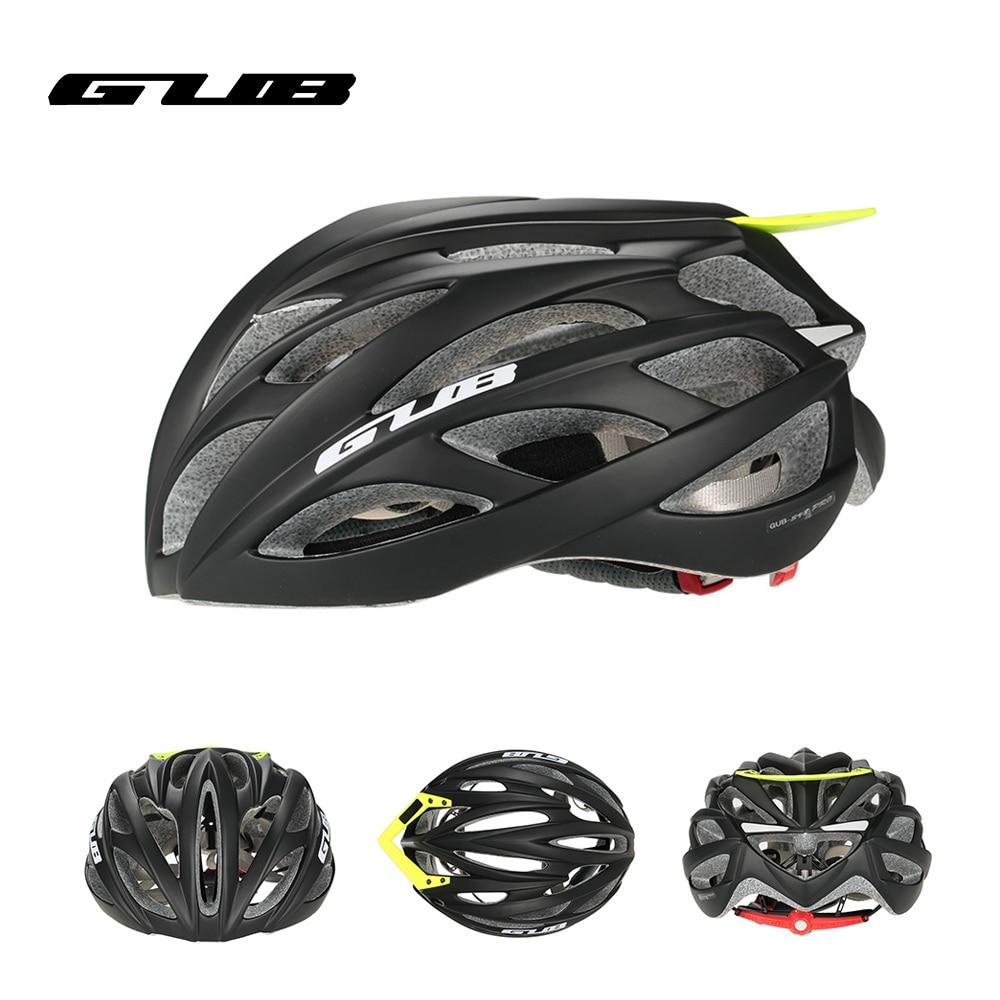 GUB PRO casco de ciclismo EPS ultraligero MTB casco de bicicleta de montaña integralmente moldeado Visor EPS + PC 26 respiraderos casco de Patinaje