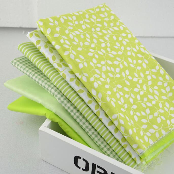 45cmx50cm 6pieces assorted green cotton fabric fat quarter bundle tilda sewing cloth home textile bedding fabric quilting W1A4-4