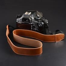 Correa de hombro de cuero PU para Canon EOS 70D 77D 80D 6D 7D Mark II 2 50D 5D IV para nikon D3200 Polo D7200 DSLR Cámara Correa